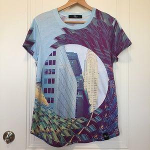 48b2ac0e98eef Mod Thread California Tops - Mod Thread NYC Print Shirt. Size XL.
